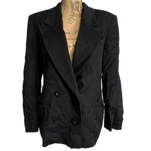 Vintage Jaeger pure new wool black blazer